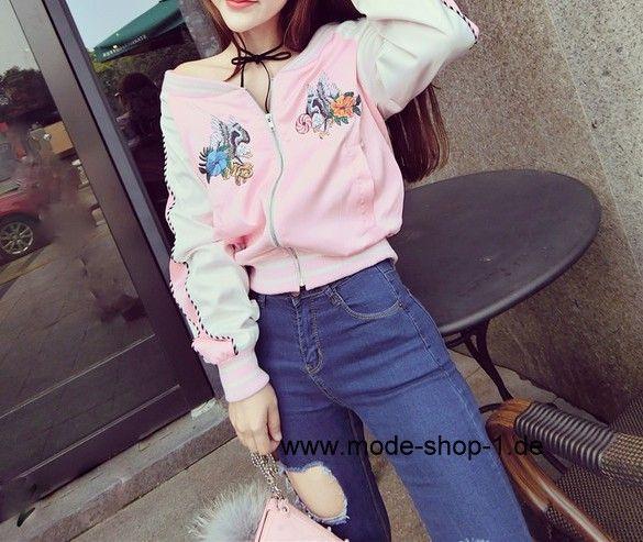 Damen Jacke in Pink mit Muster