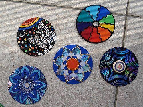 La bioguia: Bottlecap, Crafts Ideas, With Cds, Cd S, Ideas Para, Diy, Old Cds, Crafts, Mandala