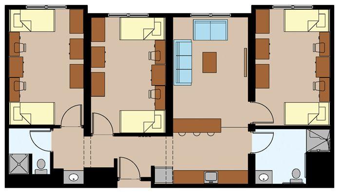 College Dorm Room Floor Plans