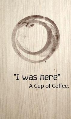 My coffee cup's selfie.