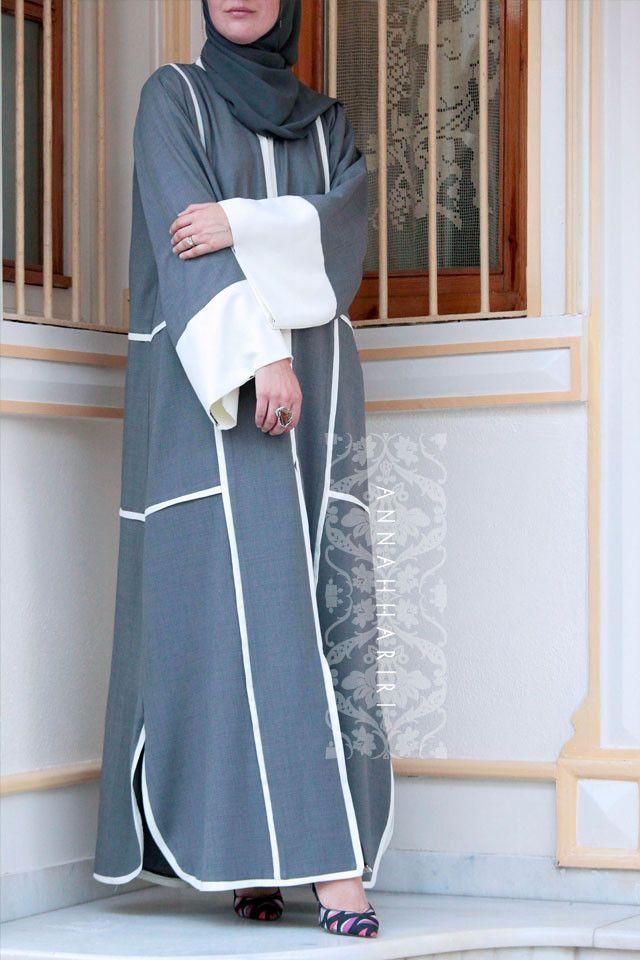 Grey Sport Abaya – ANNAH HARIRI