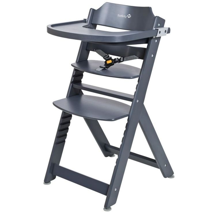 Adjustable Baby High Chair Infant Seat Child Wooden Toddler Safety Harness Comfy #AdjustableBabyHighChair