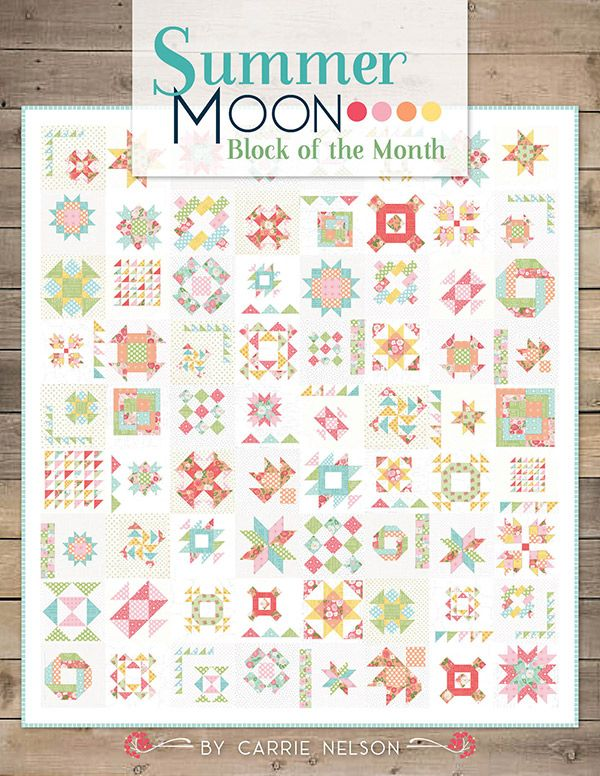 Summer Moon BOM Quilt Pattern by Its Sew Emma