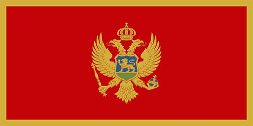 The flag of Montenegro was officially adopted on July 13, 2004.                It contains the national coat of arms centered in front of a red background with a golden border.