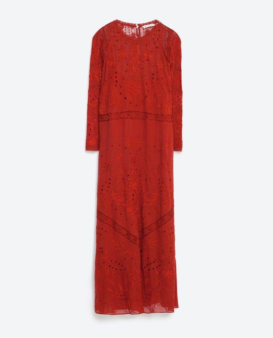 EMBROIDERED DRESS Zara