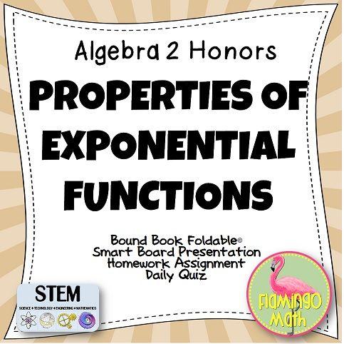 Properties of Exponential Functions (Algebra 2 - Unit 7 ...