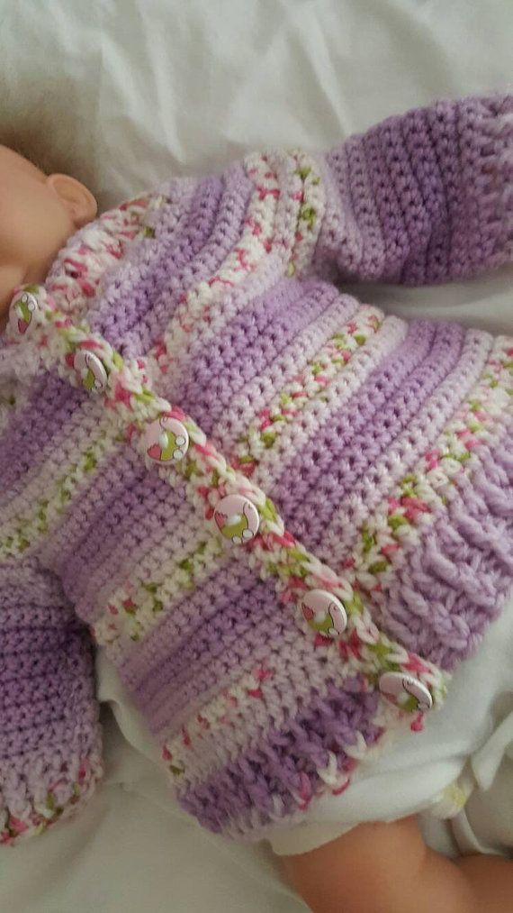 Check out this item in my Etsy shop https://www.etsy.com/uk/listing/295215001/handmade-crochet-baby-cardigan-age-3-6