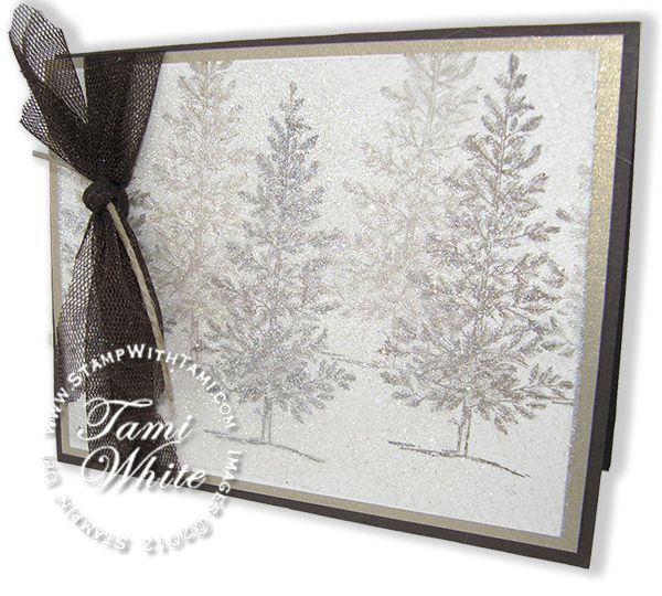 Stampin' Up! Lovely as a Tree - Dryer Sheet Technique video tutorial