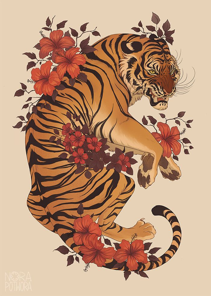 Artstation Tiger 03 2019 Nora Potwora With Images Tiger
