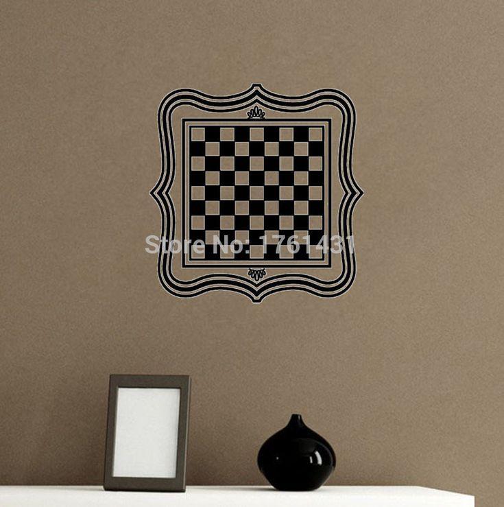 Шахматная Доска стены искусства наклейки украшения дома гостиная наклейки на стены виниловые наклейки пол стикер стены спальни обои