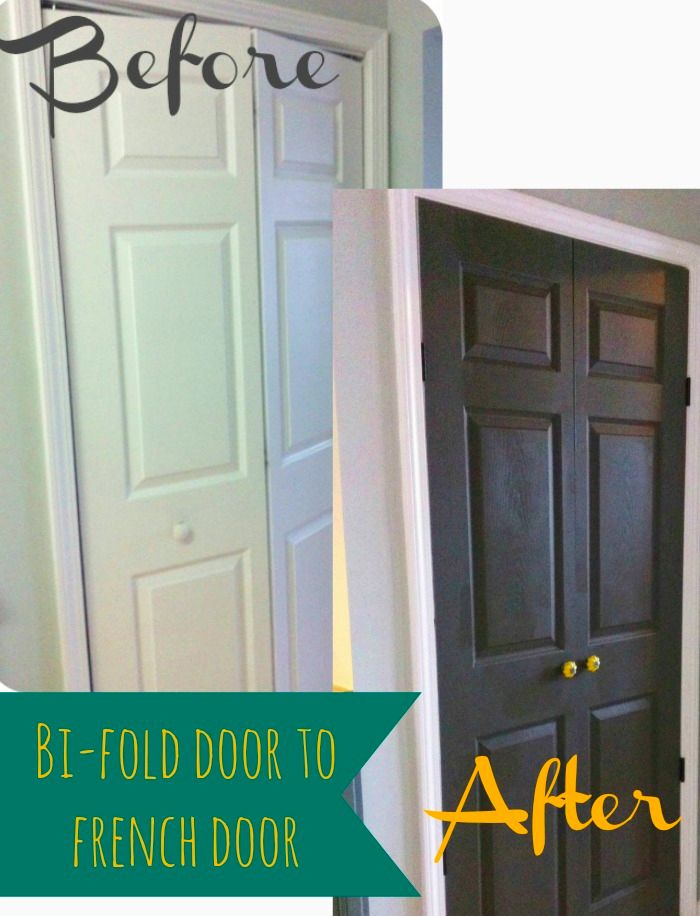 Step-by-step tutorial on changing a bi-fold door to french doors.