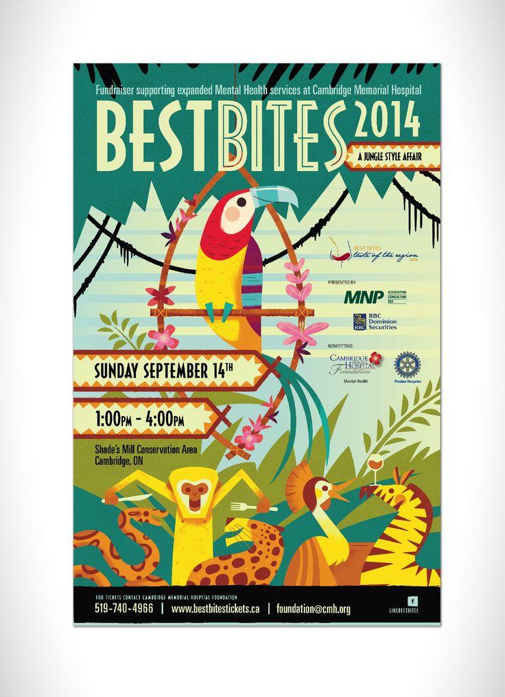 Best Bites 2014 Poster #advertising #design #food #drink # ...