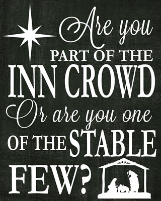 Free printable from The Idea Door!!! Love this quote: Are you part of the INN Crowd 8x10 black preview