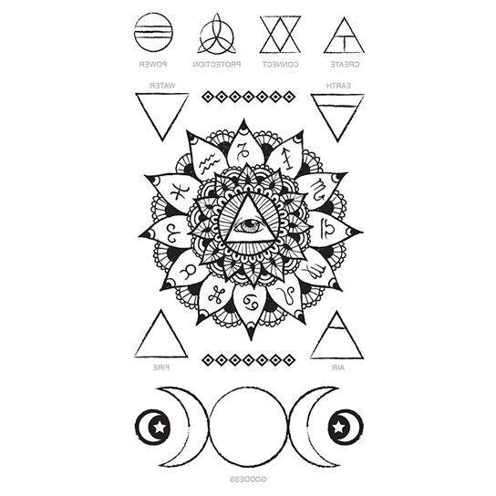 Zodiac Eye of Providence Temporary Tattoo