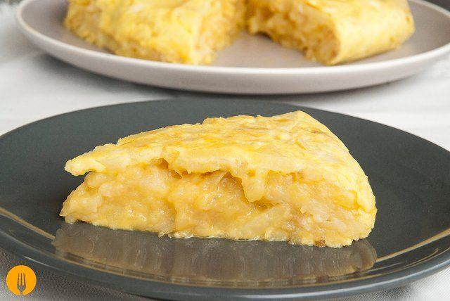 Tortilla de patatas jugosa
