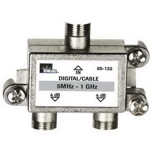 Ideal Industries - 85-132 - 2-Way Coax Splitter - 2-Way, Digital Cable Splitter - 5 MHz - 1 GHz