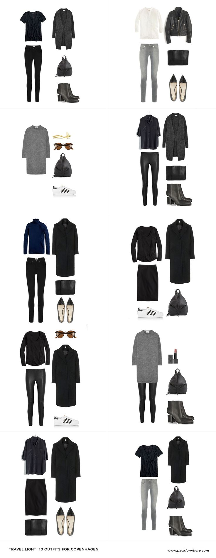 What to wear in Copenhagen, Denmark. Includes carry-on packing list. 20 items, 10 outfits, 1 carry-on. Fall packing list for Copenhagen.