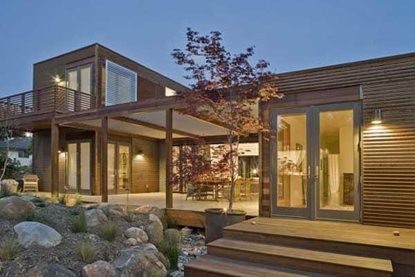 prefab House Plan with pool | Small Prefab Homes Lamp Lighting Style