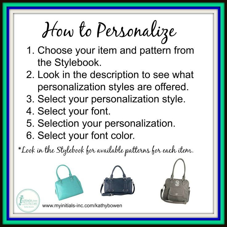 Here's how to personalize your Initials Inc. bag.