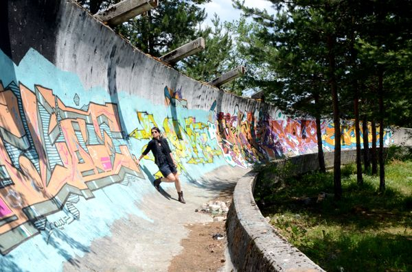 The abandoned Luge and Bobsleigh Track from the 1984 Olympics in Sarajevo, Bosnia and Herzegovina