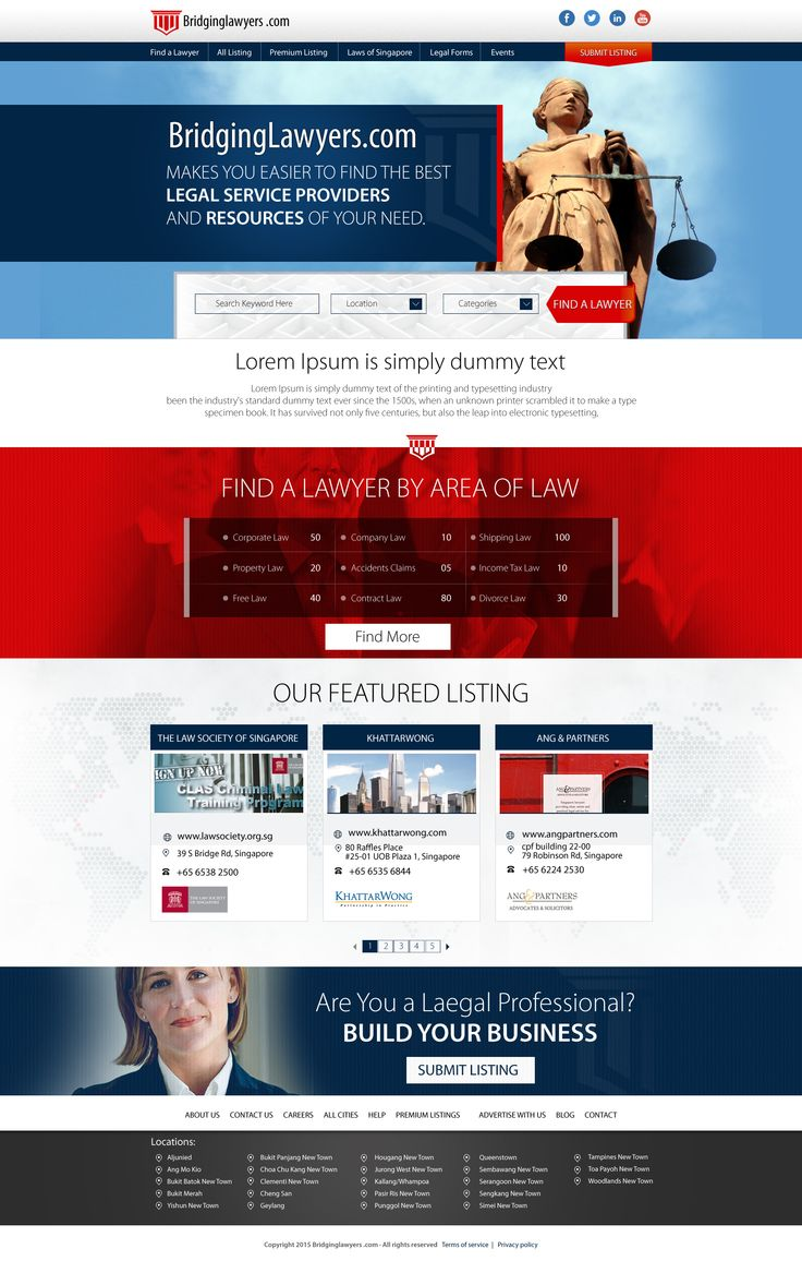 38 best dina nath shaw template design images on pinterest design lawyer directory website template design accmission