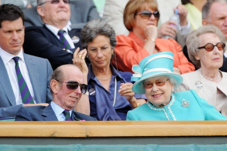 Anyone for tennis? The Queen at Wimbledon's centre court in June 2010