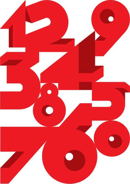 http://typeverything.com/post/24462644821/typeverything-com-numerals-by-andreirobu: Andrei Robu, Andreirobu Typography, Andrei Kravet, Simple, Kravet Robu, Typography Design, Types Design, Design Art, Red Numbers