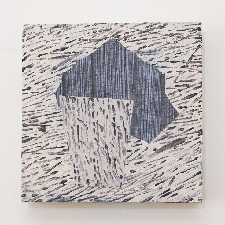 FOR SALE: $250 Iron filing. Acrylic on plywood, 30 x 30cm, 2016. www.dianaellinger.com