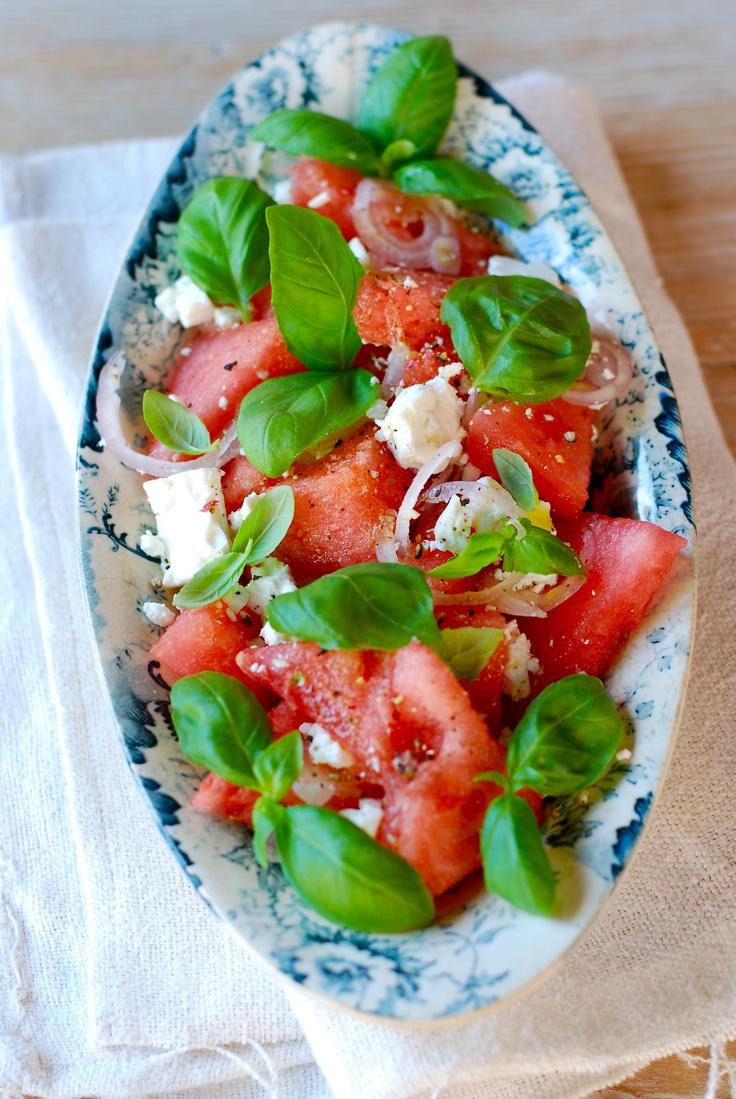 watermelon feta salad ottolenghi in the kitchen pinterest salads feta and watermelon. Black Bedroom Furniture Sets. Home Design Ideas