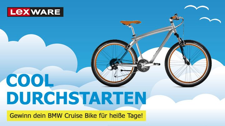 Bis zum 31.8.14 am BMW Cruise Bike Gewinnspiel teilnehmen.