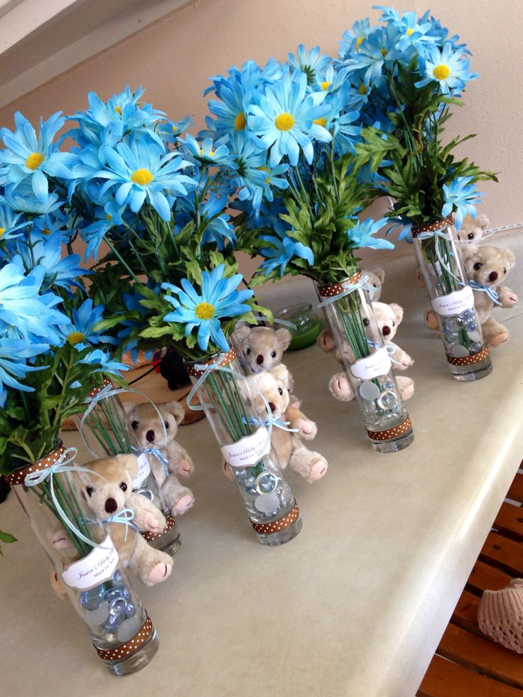 Cute baby shower center pieces