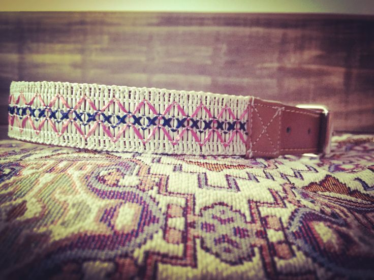 Stain resistant Boho leather dog collar by shaylaCOCO on Etsy