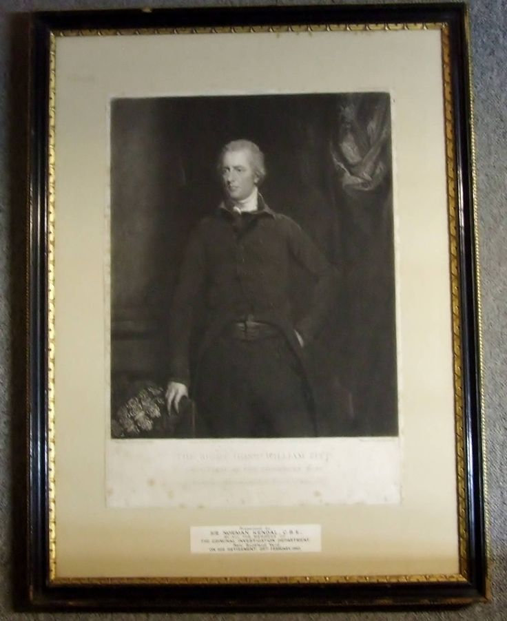 William Pitt Chancellor of the Exchequer John Hoppner George Clint 1806 mezzotint Norman Kendal  New Scotland Yard English police interest by ElegantPossessions on Etsy