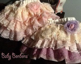 Encaje vintage volantes falda de fiesta de Navidad por Babybonbons