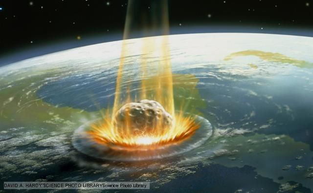 Impact events Impact events, proposed as causes of mass extinction, are when the planet is struck by a comet or meteor large enough to create a huge shockwave felt around the globe. Widespread dust and debris rain down, disrupting the climate and causing extinction on a global, rather than local, scale.
