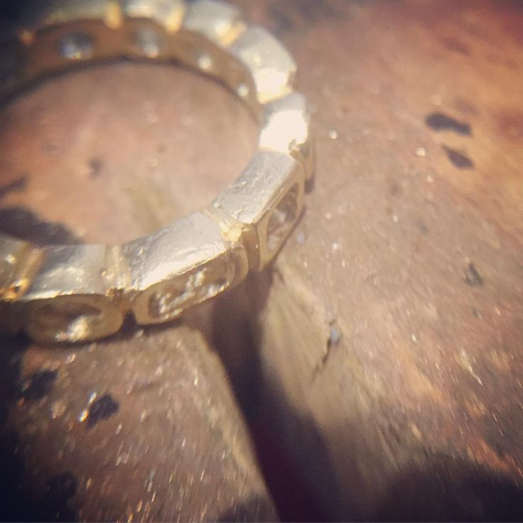 A little sneak peek of my wedding ring in progress...one of the most important rings I will ever make...the symbol of our eternity together... #weddingring #bridal #wedding #ring #process #gold #lovegoldlive #symbolism #unity #eternity #handmade #oneofakind #refinedrustic #jeweller #finejewelry #jewellery #studio #bench #2moresleeps #love #miachicco