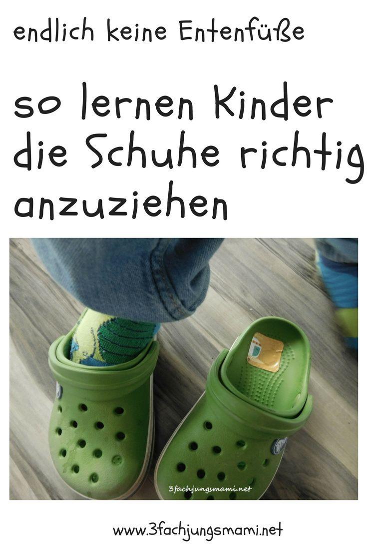Kleinkindern das richtige Schuhe anziehen lernen #laufkleber #kleinkind