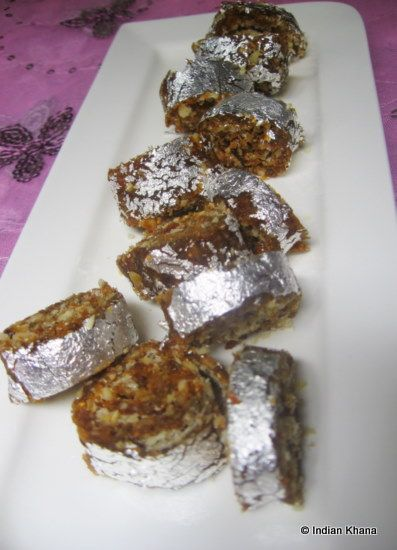 Anjeer-Khajoor Roll / Dry-Figs-Dates and Nuts Roll Recipe ~ Indian Khana