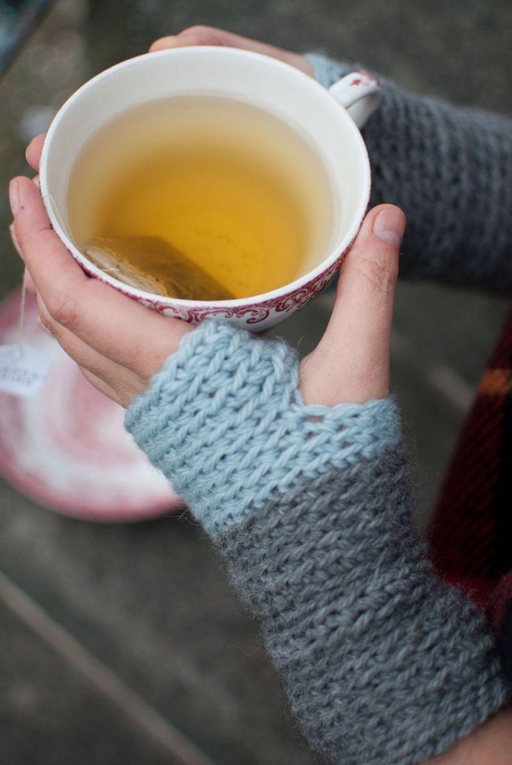 Crochet Wristwarmers / Fingerless gloves. £25.00, via Etsy.