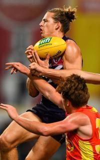 Fyfe soars for another mark; 2017 AFL