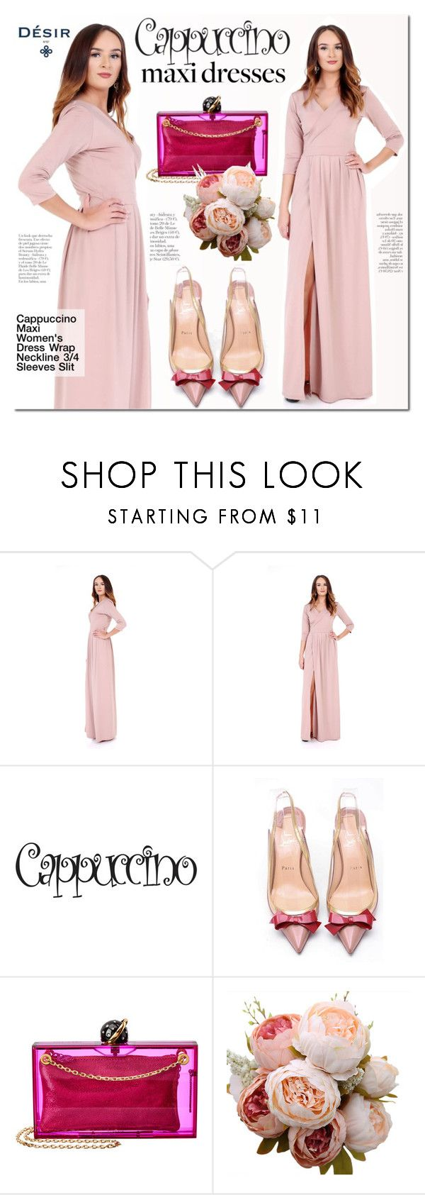 Desir Vale maxi dress by mada-malureanu on Polyvore featuring Christian Louboutin, Charlotte Olympia, dress, maxidress, summerstyle, dreamydress, DesirVale and plus size dresses