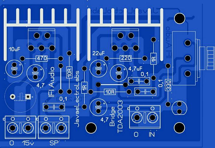 Best 20W TDA 2003 Amplifier