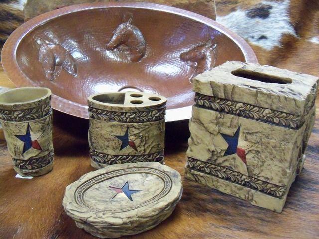 rustic texas star decor   Texas Star Bath