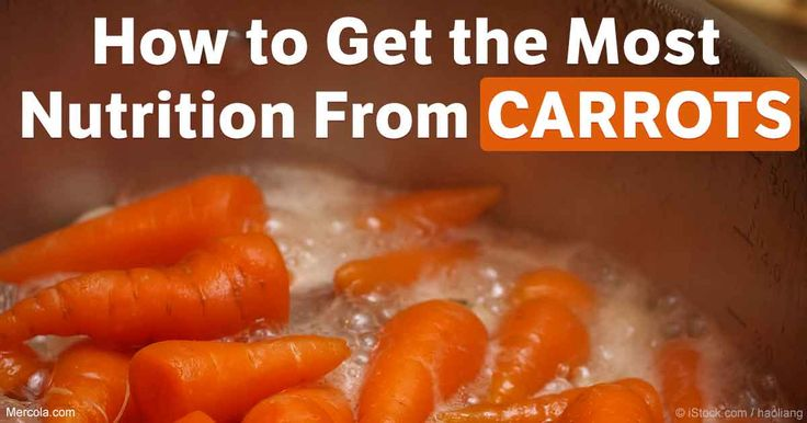 Carrots provide the most nutrients, such as beta-carotene, which converts in your body to vitamin A, when they're left whole and boiled, experts say. http://articles.mercola.com/sites/articles/archive/2017/06/19/carrots-nutrition.aspx