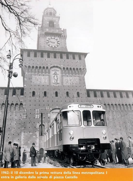 10 dicembre 1962. Primo treno linea 1