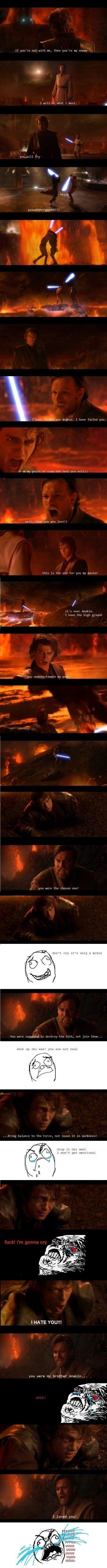 Anakin vs. Obi Wan Literally. Every time.