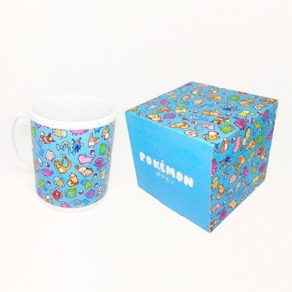 Chibi Pokemon Pattern Pokemon Mug and Box Set by BluePotionUK