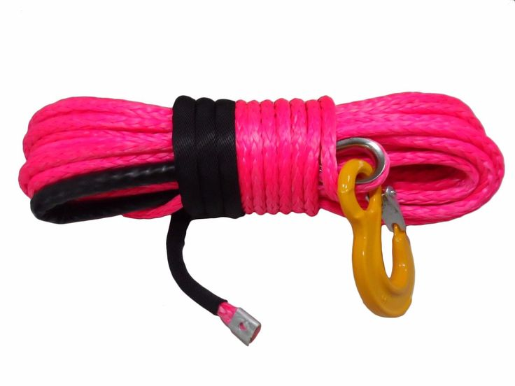 Pink 1/2*100ft Synthetic Rope,ATV Winch Cable,Boat Winch Rope,Tow Rope Car Hook