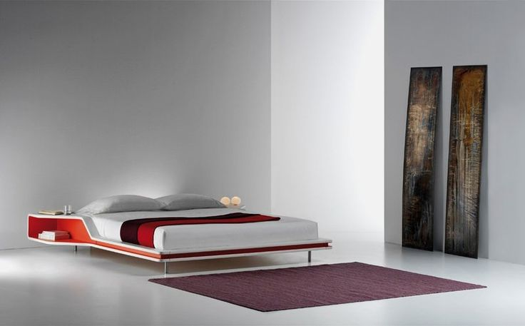 red Masculine Bed in Race Car-like Shape
