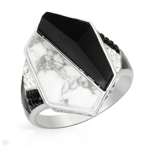 Sterling Silver Crystal and Onyx Ladies Ring. Ring Size 10.5. Total Item weight 6.6 g. VividGemz. $28.00. Save 81%!